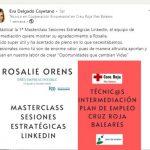 sesiones LinkedIn para Cruz Roja Illes Balears